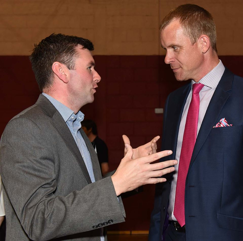 Brendan Breslin with Adjudicator