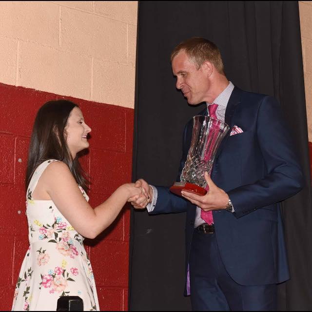 aisling receiving award