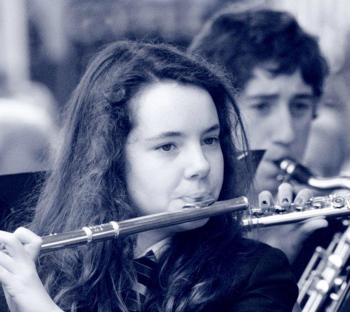 ciara_cousins_playing_flute_bw